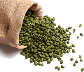 Bag of Natural Green Coffee